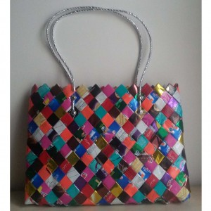 grand sac tresse multicolore