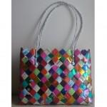 sac moyen tresse multicolore