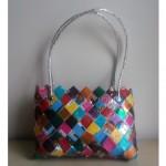 petit sac tresse multicolore